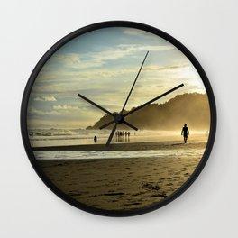 Beach sunset in Costa Rica Wall Clock
