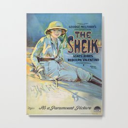 The Sheik with Agnes Ayres and Rudolph Valentino Metal Print
