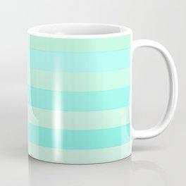 Green Teal Stripe Fade Coffee Mug