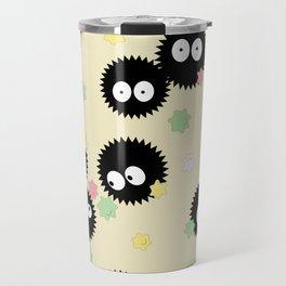 Soot Sprites with Konpeito Sugar Candy Travel Mug