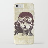 les miserables iPhone & iPod Cases featuring Les Miserables Girl by Pop Atelier