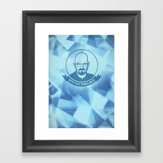 Walter White - Heisenberg - Blue Meth Edition Framed Art Print