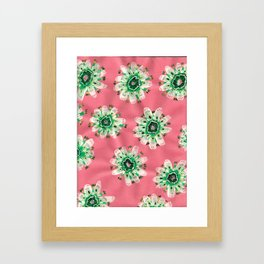 Emerald Lace Rose Framed Art Print