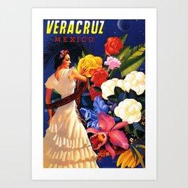 Veracruz Travel Poster Art Print