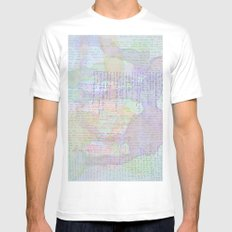 Words and Water Paint MEDIUM White Mens Fitted Tee