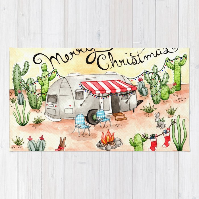 Airstream christmas rug by bweeber society6 for Airstream christmas decoration