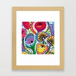 Flower Trip (Square) Framed Art Print