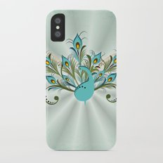Just a Peacock Slim Case iPhone X