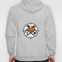 Angry Moose Crossed Ice Pick Axe Pararescue Mascot Hoody