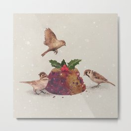 Christmas Pudding Raid  Metal Print