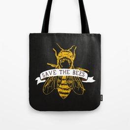 Save The Bees (Dark) Tote Bag