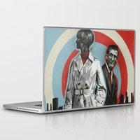superheroes Laptop & iPad Skins featuring Superheroes SF by Troy DeRose