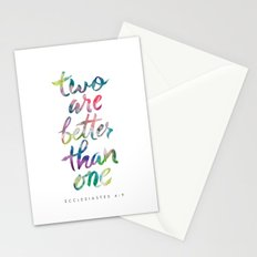 Ecclesiastes 4:9 Stationery Cards