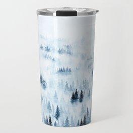 Foggy Trees Travel Mug