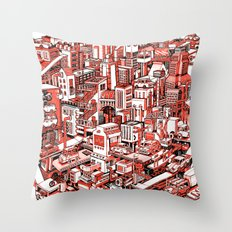City Machine Throw Pillow