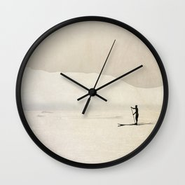 Stand up paddling Wall Clock