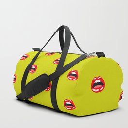 SEXY LIPS ((chartreuse)) Duffle Bag