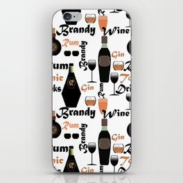 Abstract holiday gift pattern for men . Bar iPhone Skin