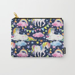 Unicorns, Rainbows & Stars Carry-All Pouch