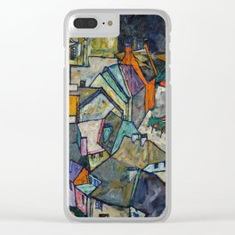 "Egon Schiele ""Stadtende Häuserbogen III"" Clear iPhone Case"