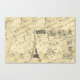 Parisian French Script Canvas Print