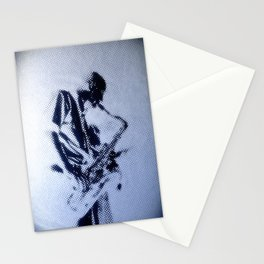 Sax Music Poster Stationery Cards