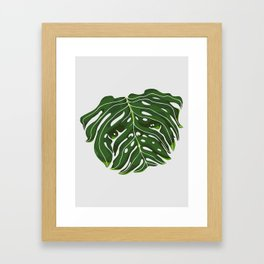 Monstera Pug Framed Art Print