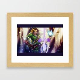 The Hero of Time... Framed Art Print
