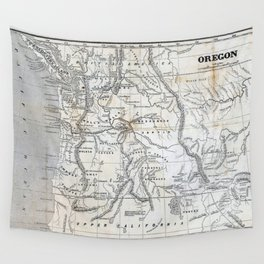Vintage Map of Oregon Wall Tapestry