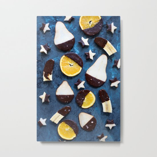 fruits dipped in chocolate Metal Print