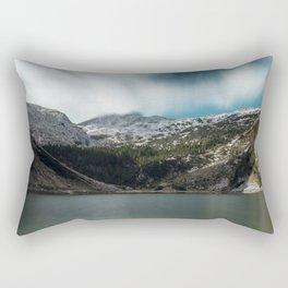 Magnificent lake Krn with mountain Krn, Slovenia Rectangular Pillow