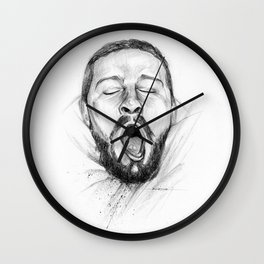 Yawn of Shia Wall Clock