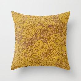 yellow seeds Throw Pillow
