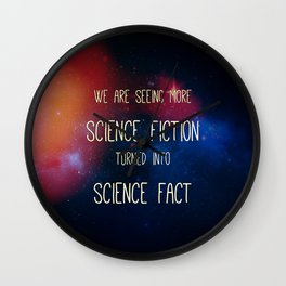 Science-Fiction Turned Science-Fact Wall Clock