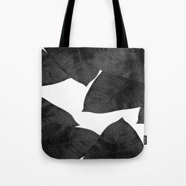 Banana Leaf Black & White II Tote Bag