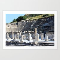 theater Art Prints featuring Theater  by Allisa Thome