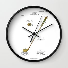 Golf Club Patent - Circa 1903 Wall Clock