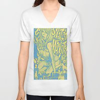 snatch V-neck T-shirts featuring Attack Of The 50 Foot Snatch Monster  by S.D. Strobeck