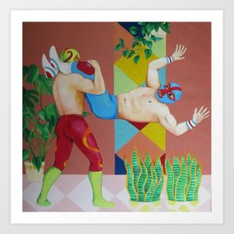Huracanrana in the greenhouse Art Print