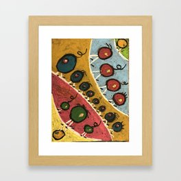 Abstract Walking Olives Framed Art Print
