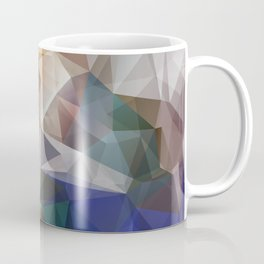 Abstract background of triangles polygon print. Bright design colors Coffee Mug