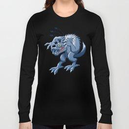 Werewolf Scratching Spooky Fleas Long Sleeve T-shirt