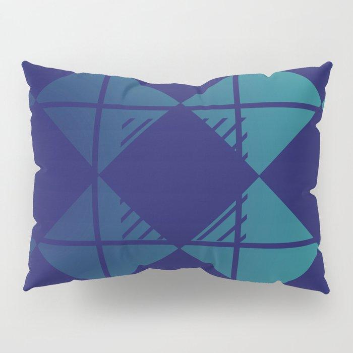 Blue,Diamond Shapes,Square Pillow Sham
