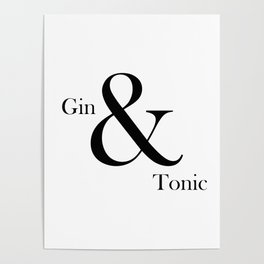 Gin & Tonic Poster