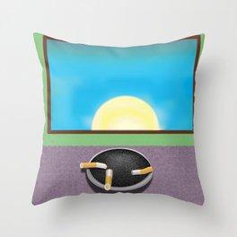 Pulp Sunrise Throw Pillow