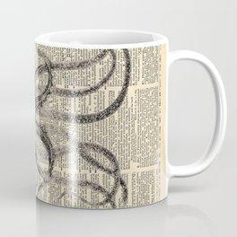 Book Art Octopus black & white Coffee Mug