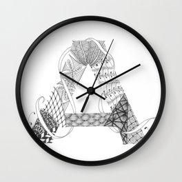 """Zenletter """"A"""" Wall Clock"""