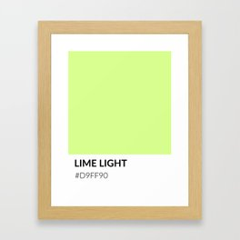 Lime Light - Color Swatch Collection Framed Art Print