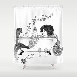 Broad City Mermaid Fan Art Shower Curtain