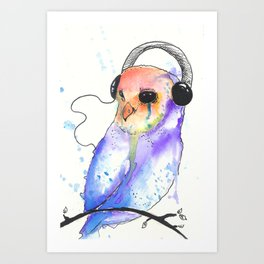 This music plays somewhere behind the eyes Art Print